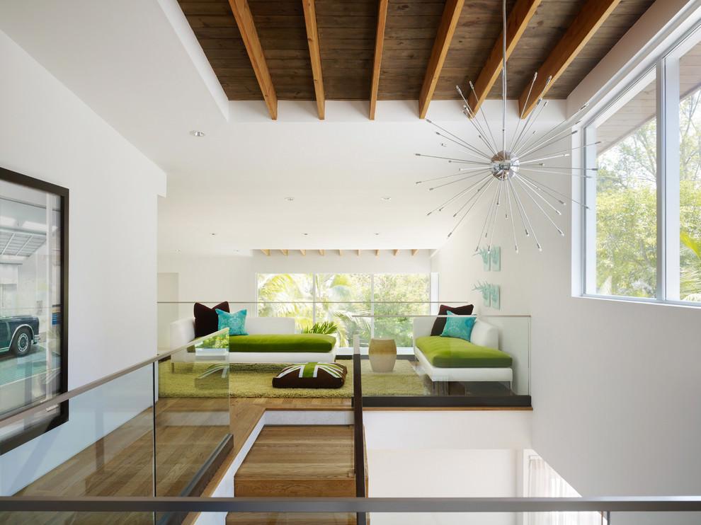 midcentury family room sputnik chandelier