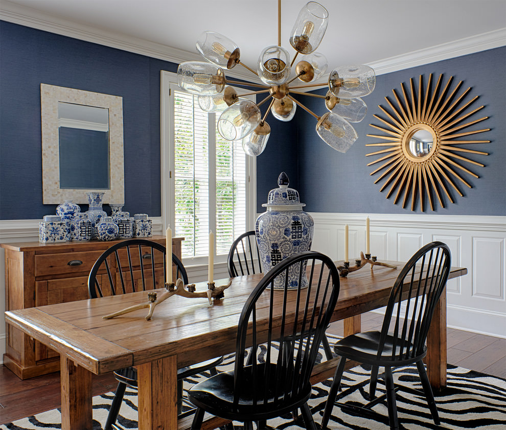 transitional dining room different sputnik chandelier