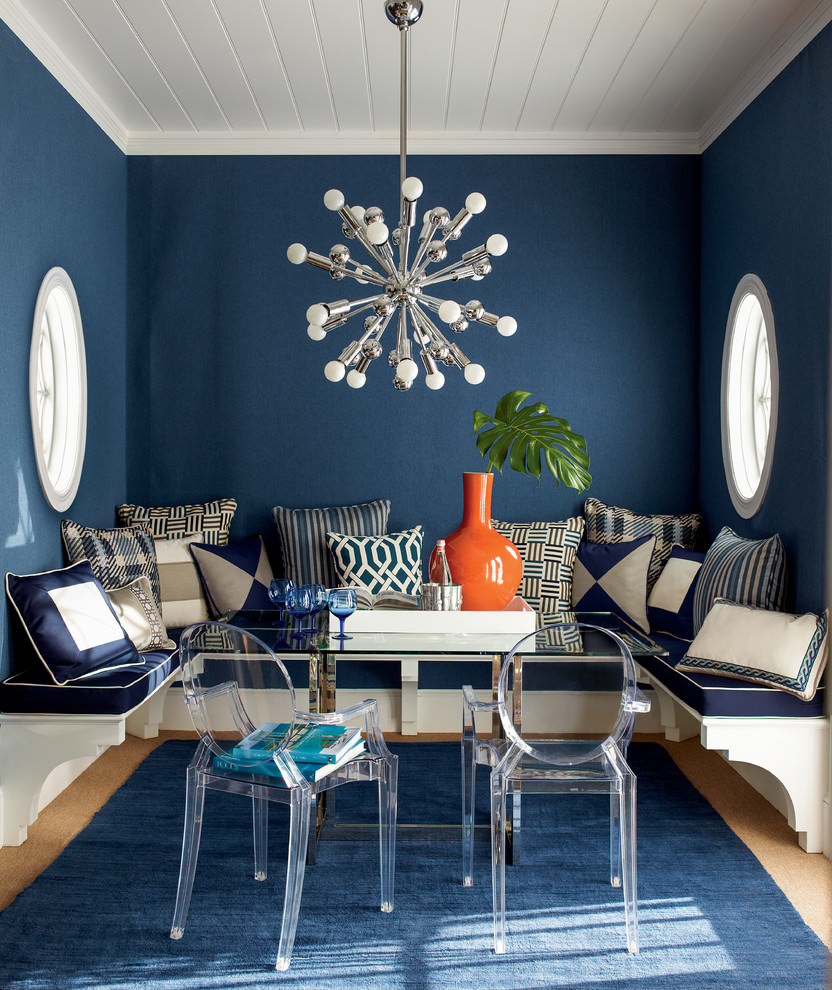 transitional dining room nice steel sputnik chandelier