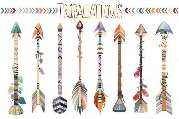 Tribal Arrows Vector Set