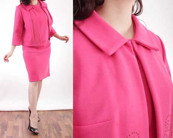 Hot Pink Skirt Suit