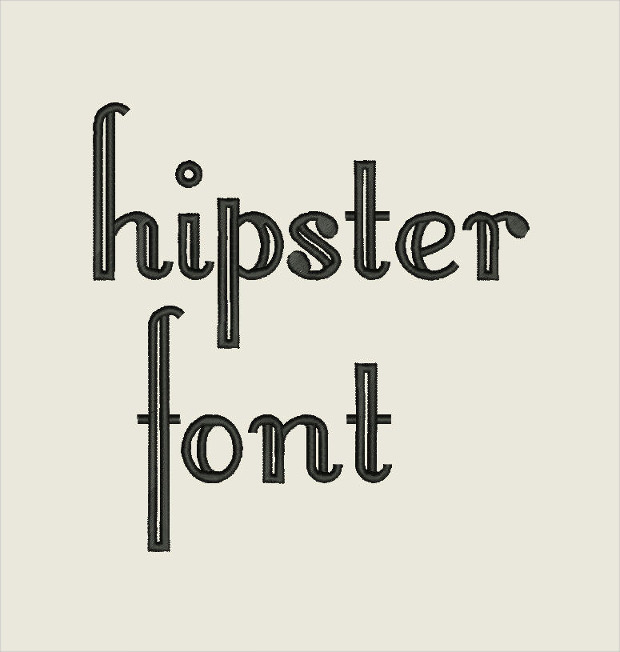 hipster font embroidery file download