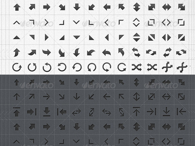 Arrow Vector Shape Icons