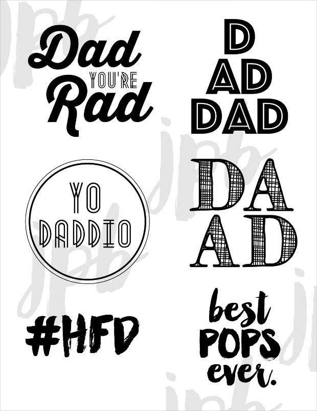 happy fathers day hipster font