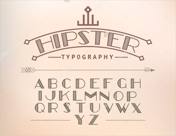 Modern Font and Hipster Typograhy