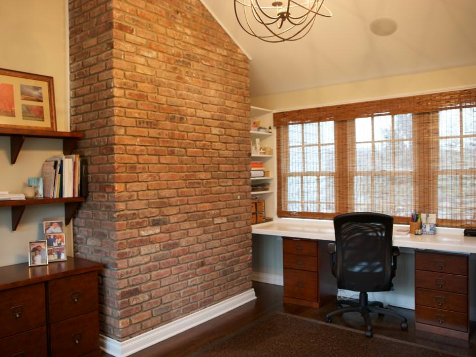 Traditional Home Office with natural light design from window