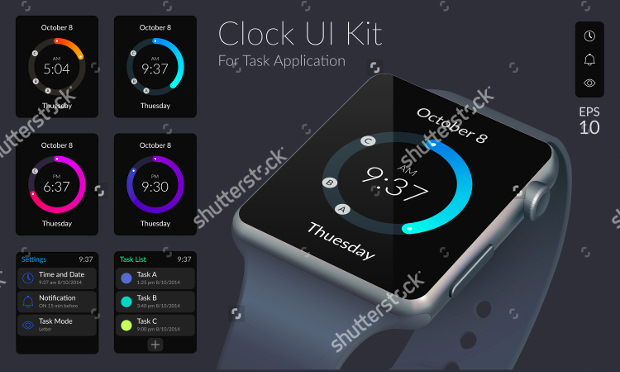 Clock App UI Design
