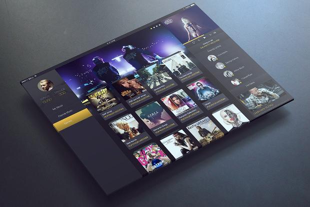 music app ui design for ipad