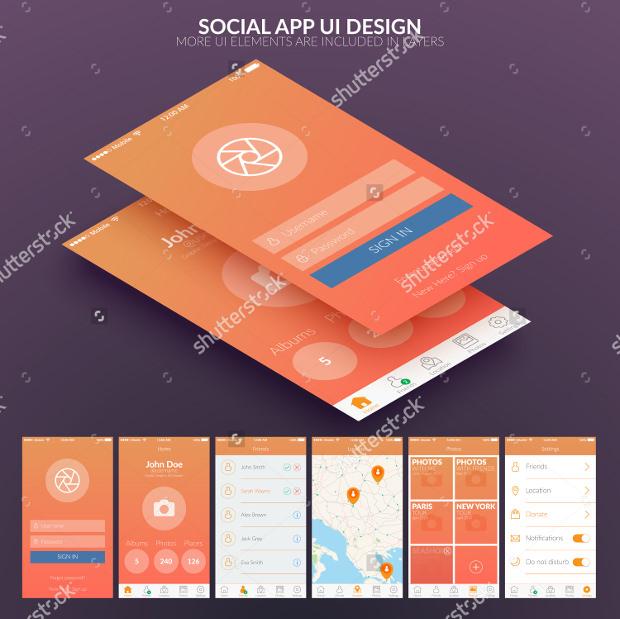 app ui design for social media