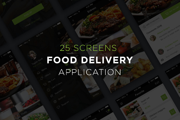 app ui designs for food delivery