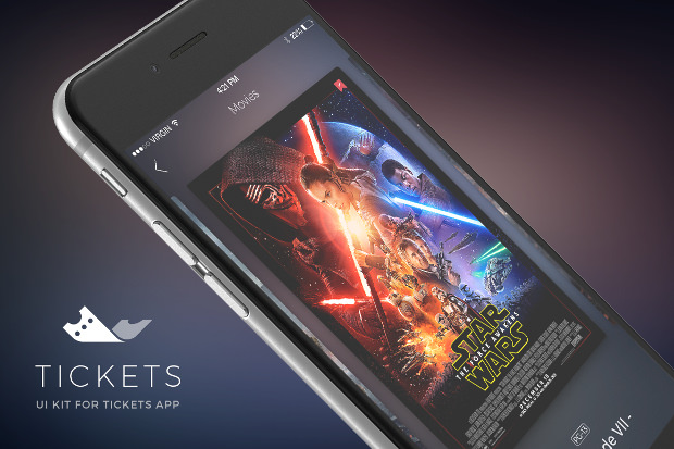 App UI Design Kit For Movie Tickets