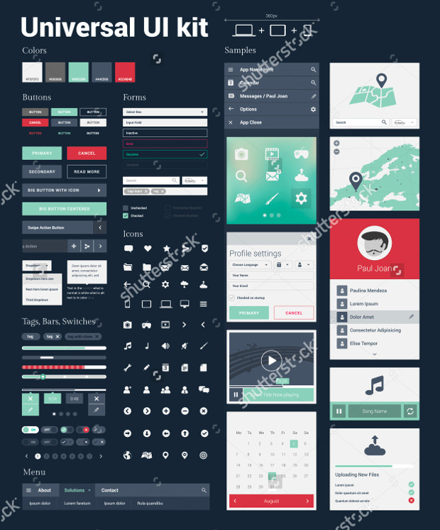 Universal Kit For App UI Design