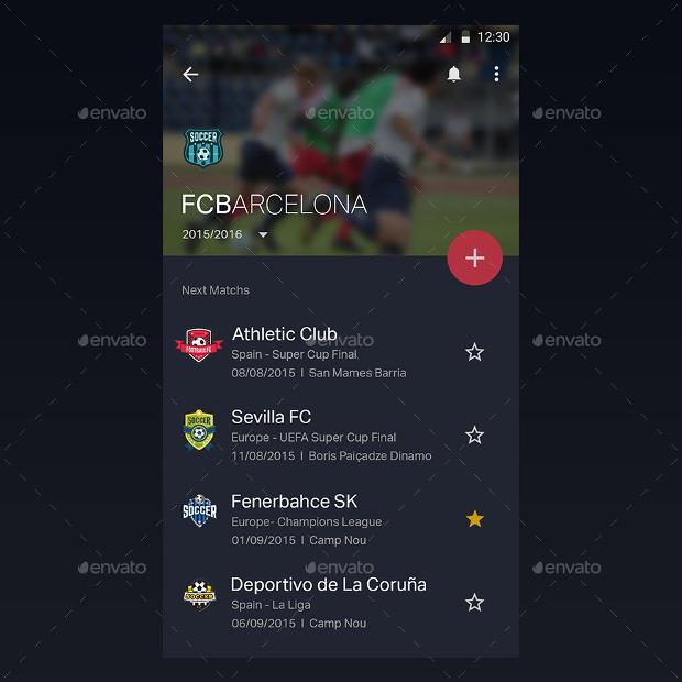 football app ui design kit