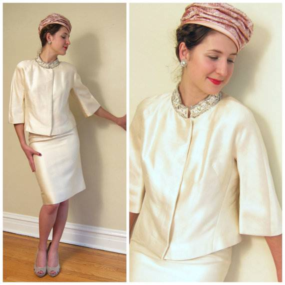 Silk Wedding Skirt Suit
