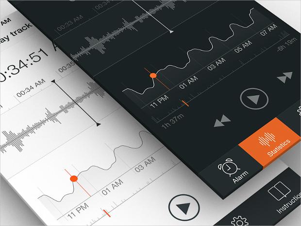 sleep tracker app ui design