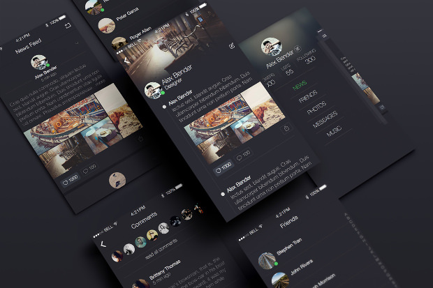 Awesome Social App UI Design
