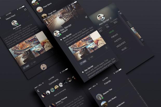 awesome social app ui design