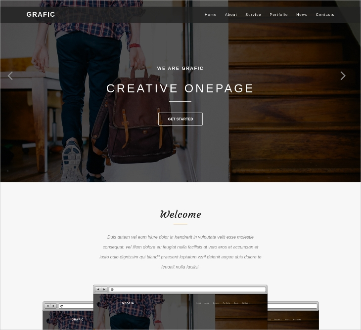 Responsive HTML & CSS Template
