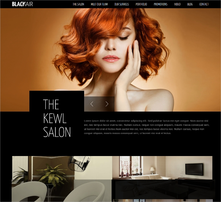 Hair Salons HTML5 Template