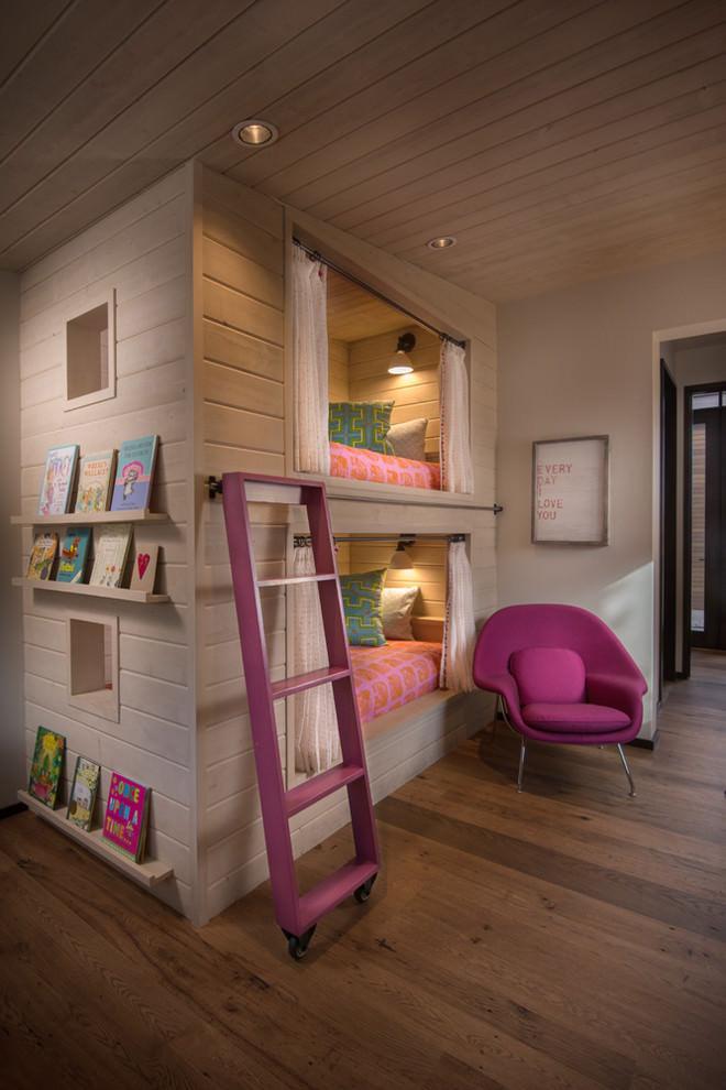 rustic spacious childrens room design