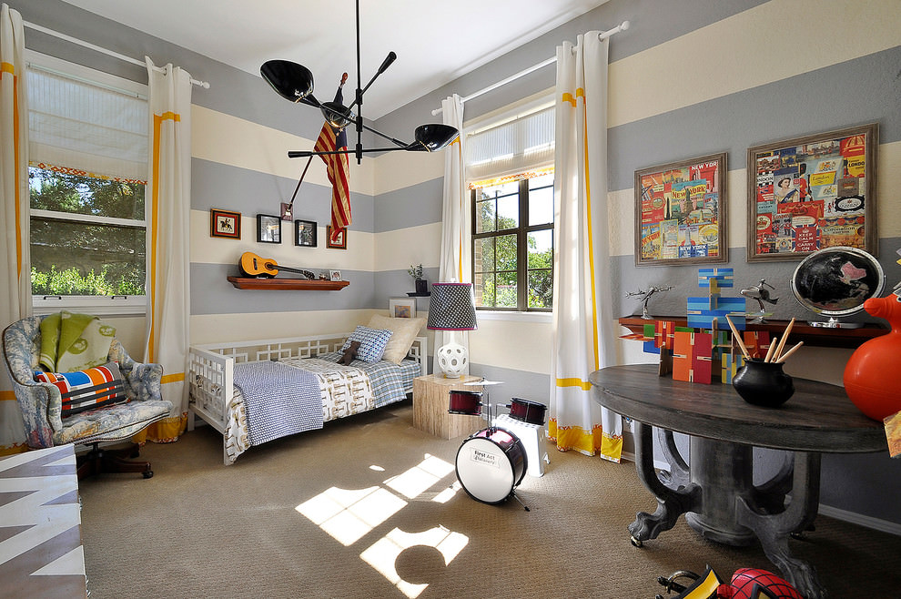 spacious contemporary childrens room design