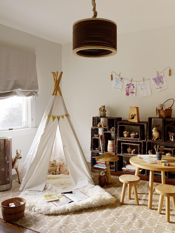 spacious rustic childrens room design