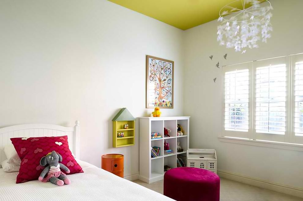 Spacious contemporary white Kidsroom design
