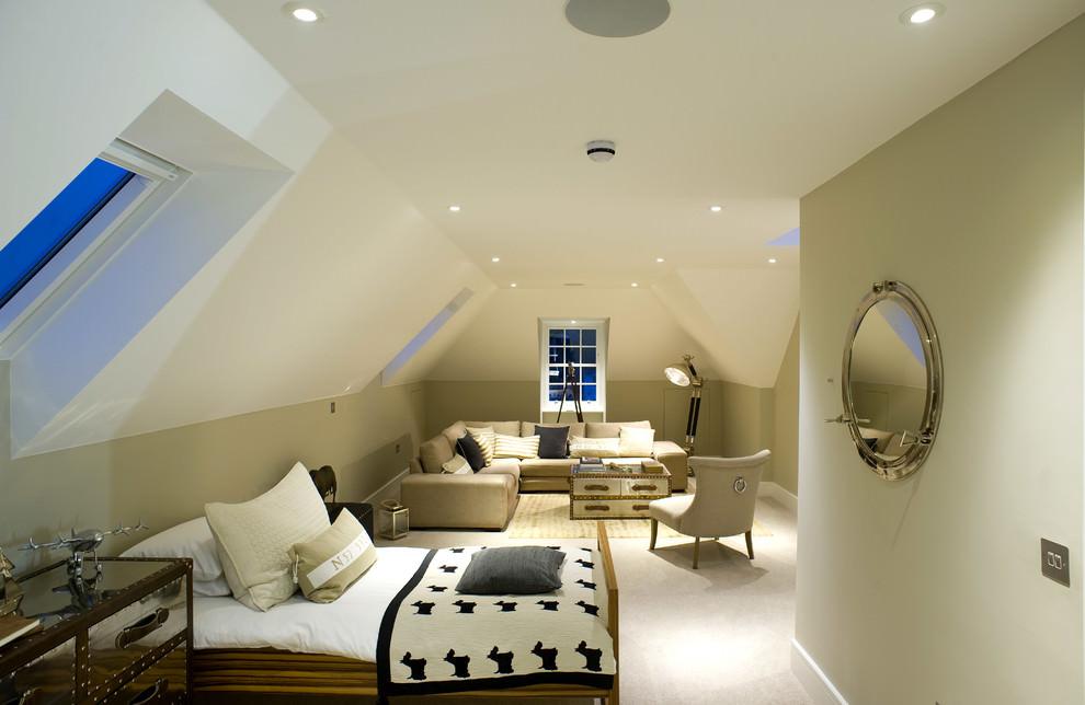 transitional kids nice spacious room design