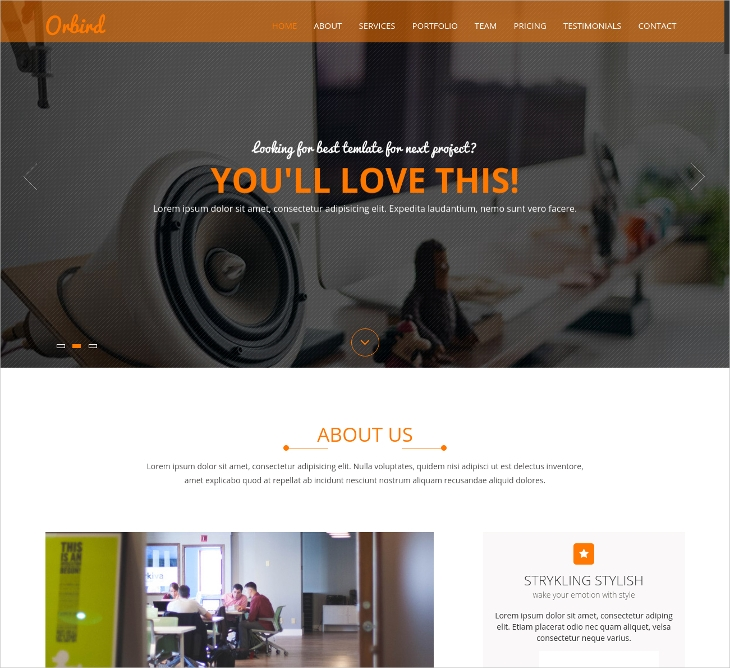 One Page Clean HTML5 & CSS3 Template