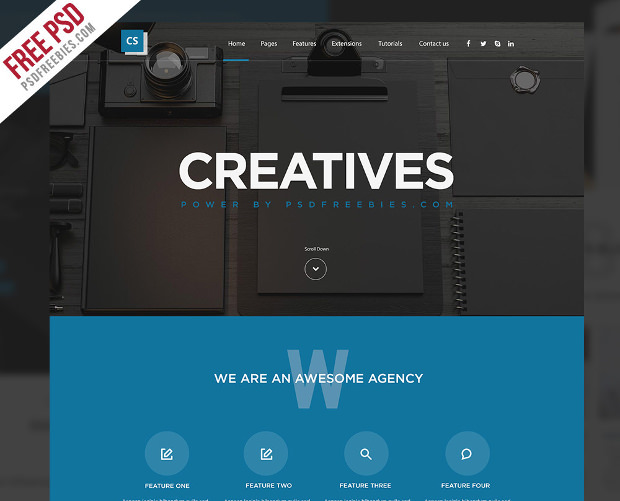 Creative Digital Template Free PSD