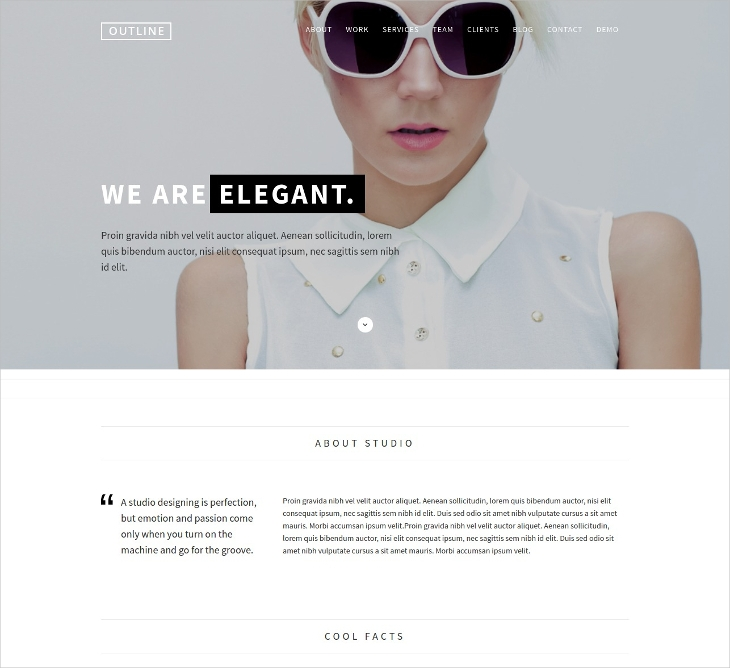 Creative One Page Portfolio Template