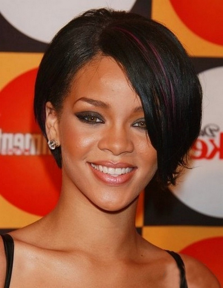 rihanna short straight hair