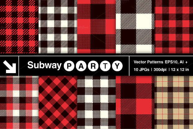 Red And Balck Checkered Plaid Pattern