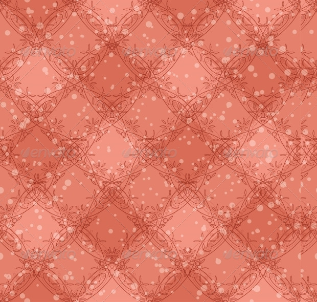 Plaid Pattern With Pink Background
