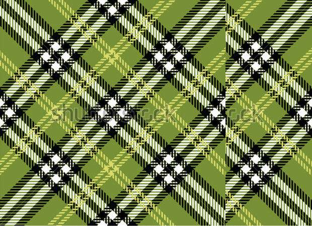 Green Color Plaid Pattern