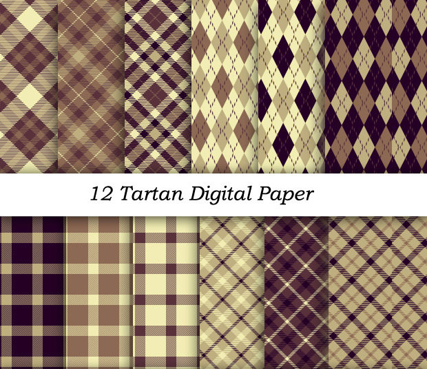 12 Tartan Plaid Patterns