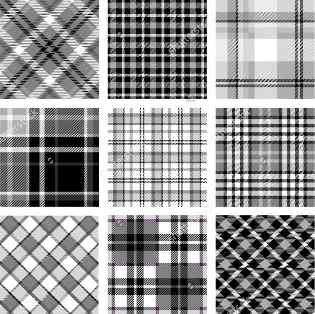 Plaid Patterns In Black & White