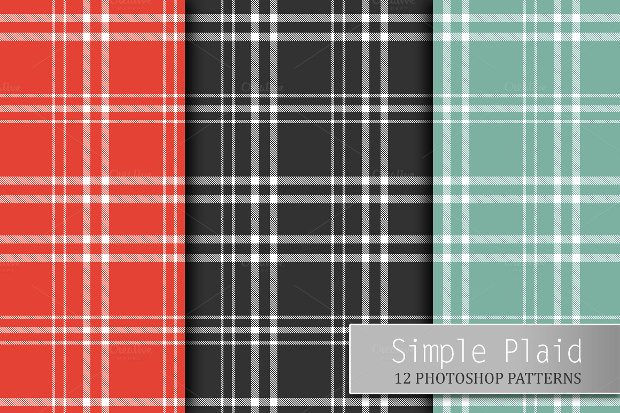 12 Simple Plaid Patterns
