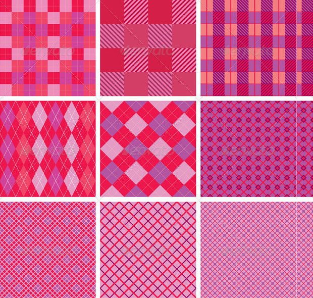 Pink Color Plaid Pattern