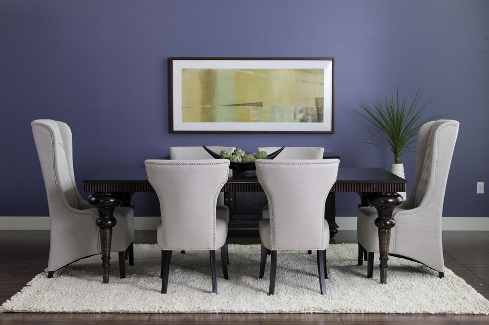 descent blue dining room design