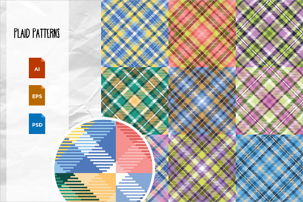 Vector Layered Plaid Patterns