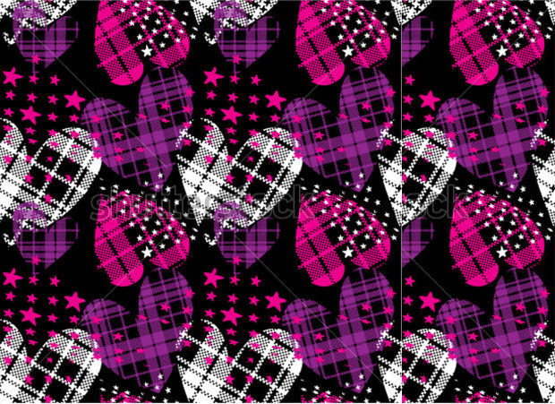 Heart Checkered Plaid Pattern