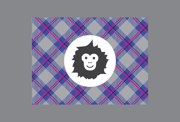 Monkey Mark Plaid Pattern