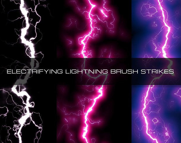 set of electricfying lightning brushes