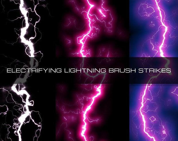 Set of Electricfying lightning brushes