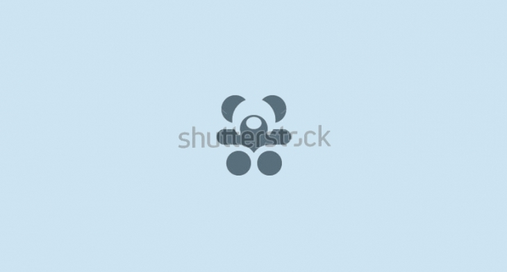 Teddy Bear Logo with Blue Color Background