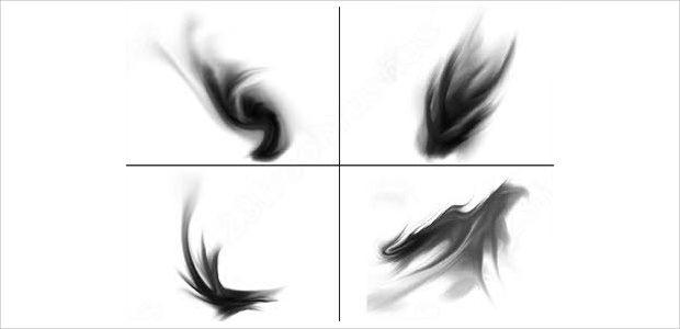 Set of Lightning Brushes