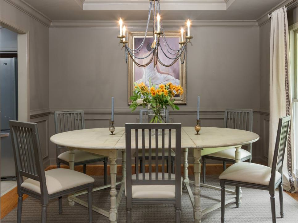 descent gray dining room