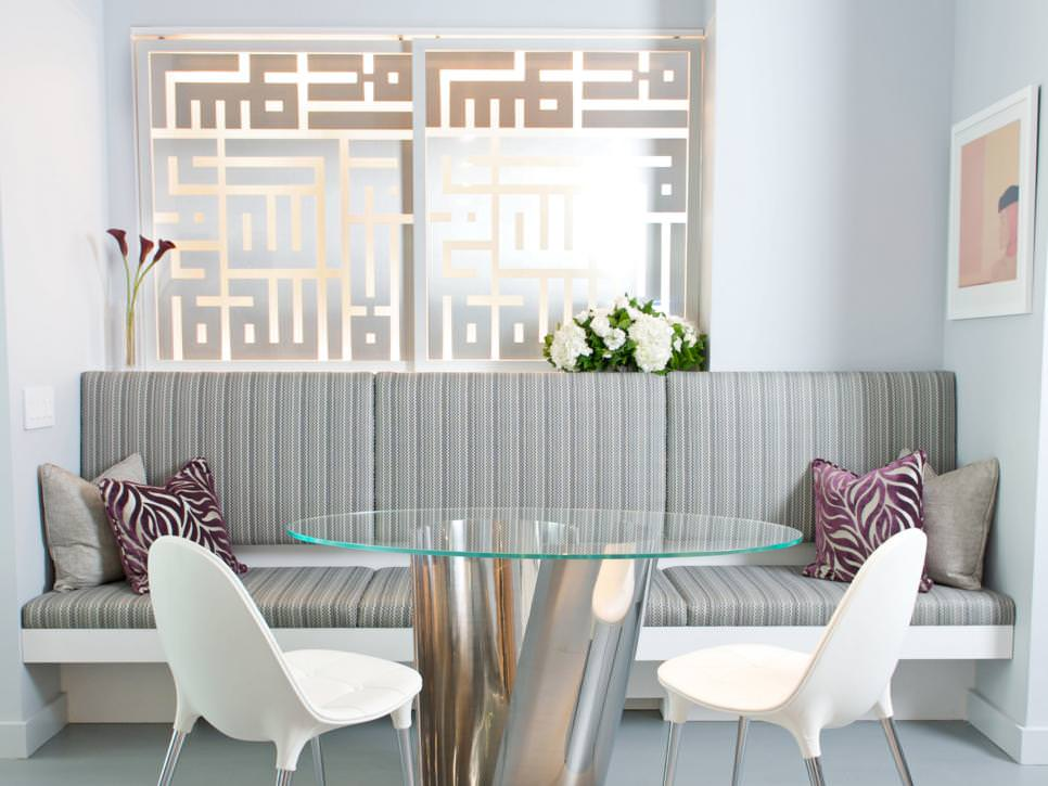 Gray and White Modern Dining Room