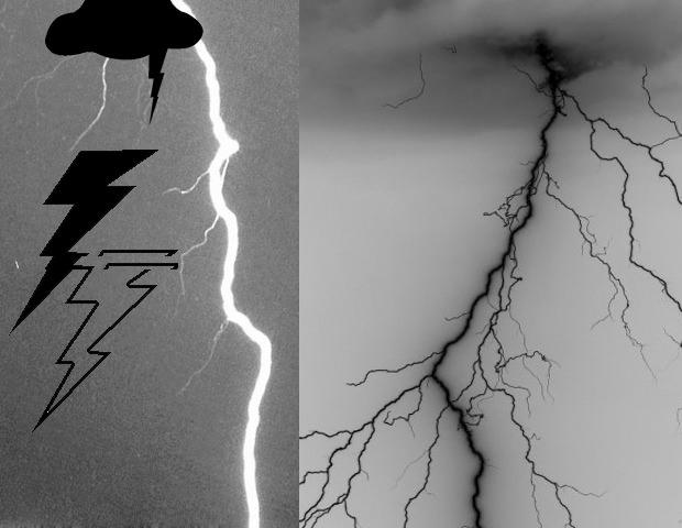 Electrifying Lightning Photoshop brushes